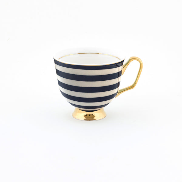 Breton Stripe Teacup & Saucer XL - 375mL
