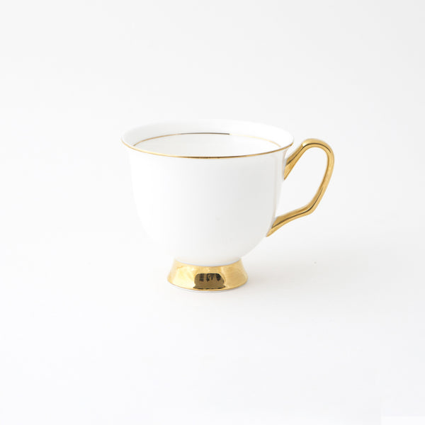 White Teacup & Saucer XL - 375mL