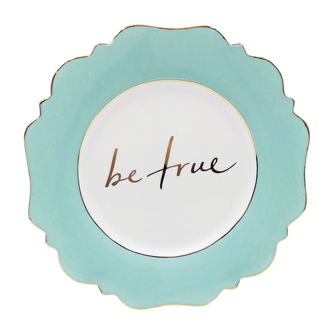 Pale Blue 'Be True' Side Plate