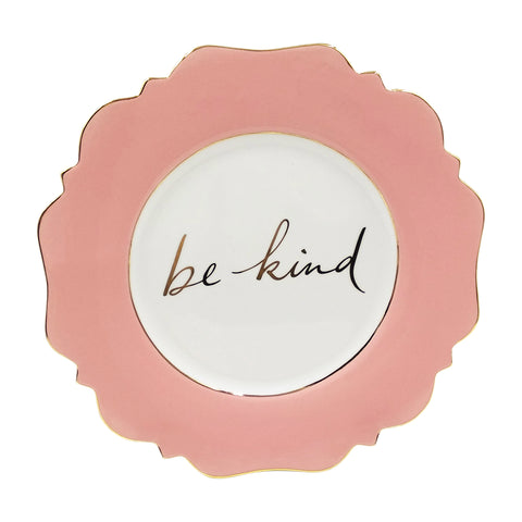 Pale Pink 'Be Kind' Side Plate