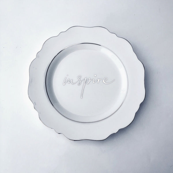 White 'Inspire' Side Plate