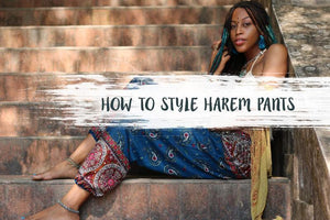 How to Style Harem Pants