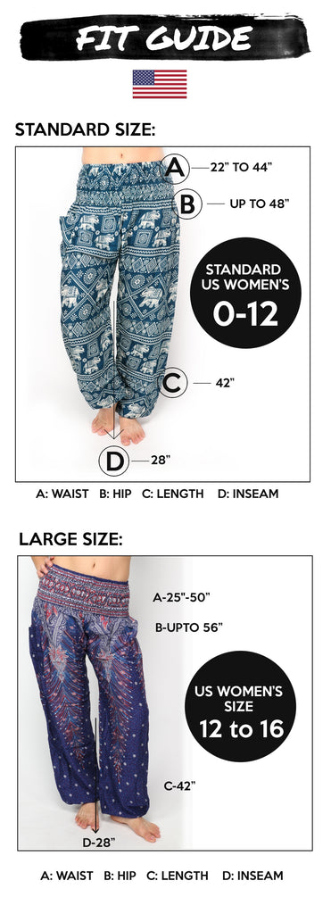Harem Pants Size Guide