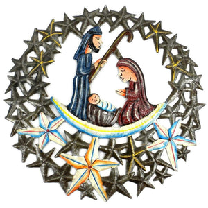 11 inch Nativity in the Stars Metal Wall Art (GC) Metal Wall Art