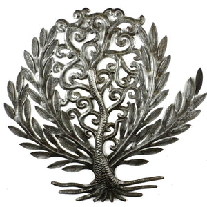 14 inch Tree of Life Laurel Leaf (GC) Metal Wall Art