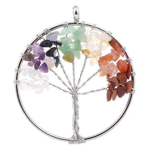 7 Chakra Color Tree of Life Pendant Necklace Pendant Necklaces
