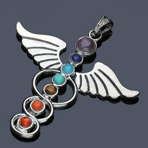 7 Color Stone Beads Chakra Healing Pendant 1 / Multicolor Pendants
