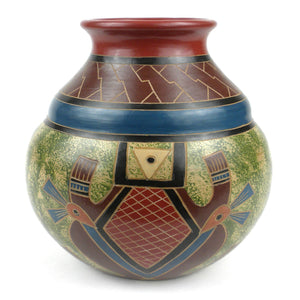 7 inch Tall Vase - Abstract (GC) Decorative Pottery