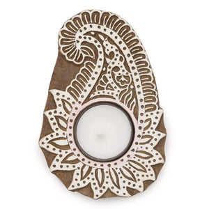 Aashiyana Tea Light Holder - Paisley Default Title Candles
