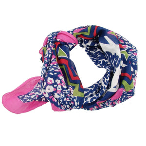 Abstract Animal Scarf - Pink  (GC) WorldFinds (S)