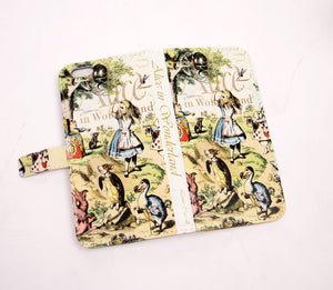 Alice Book phone flip case wallet for iPhone and Samsung Home - Electronics