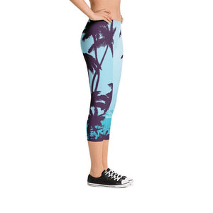 All Day Comfort Capri Leggings Morro Bay Women - Apparel - Activewear - Leggings