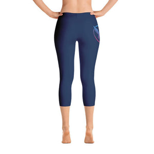 All Day Comfort Capri Leggings Pacific Supply II Navy Stripe XS / Navy Women - Apparel - Activewear - Leggings