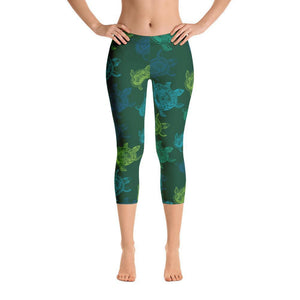 All Day Comfort Turtle Capri Leggings Women - Apparel - Activewear - Leggings