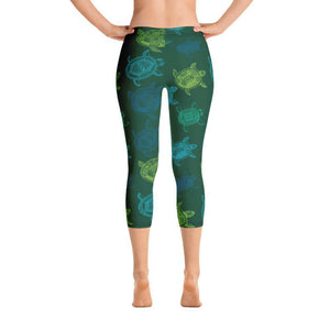 All Day Comfort Turtle Capri Leggings XS / Green Women - Apparel - Activewear - Leggings