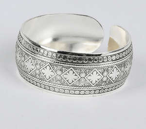 Antique Silver & Copper Boho Cuff 1 / Silver Bangles