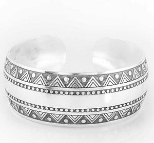 Antique Silver & Copper Boho Cuff 2 / Silver Bangles