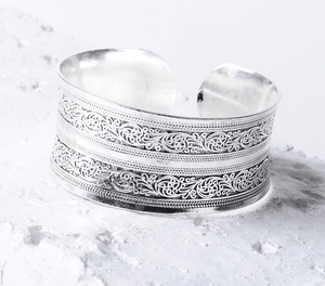 Antique Silver & Copper Boho Cuff Bangles