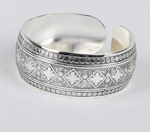 Antique Silver & Copper Boho Cuff option A / Silver Bangles