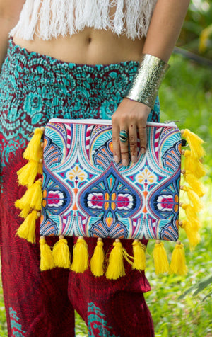 Bali Beach Fringe Oversized Clutch Bags