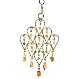 Beaded Chime Tear Drop Design - Mira (GC) Bell