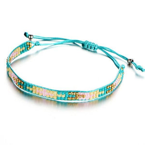 Beaded Friendship Bracelets with Aquamarine Beads FCS446 Charm Bracelets