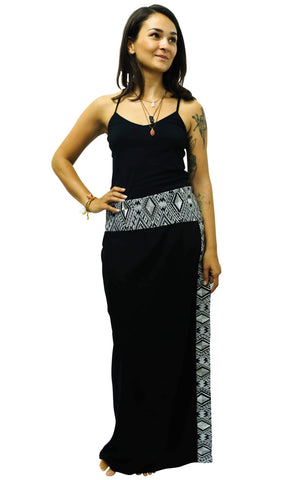 Black Diamond Wrap Skirt M / Black Women - Apparel - Skirts - Maxi
