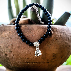 Black Elephant Bracelet - Protection & Luck Women - Jewelry - Bracelets