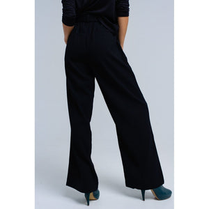 Black pants with buckles Women - Apparel - Pants - Trousers