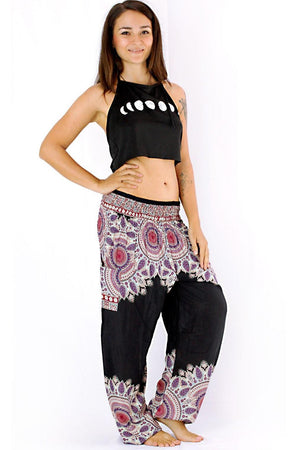 Black Spirit Mandala Harem Pants Standard / Black Harem Pants
