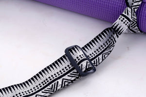 Black Tribal Yoga Mat Strap Yoga
