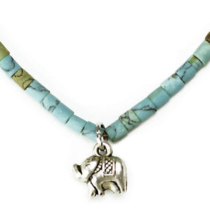 Blue Elephant Necklace - Peace & Positivity Women - Jewelry - Bracelets