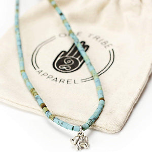 Blue Elephant Necklace - Peace & Positivity Women - Jewelry - Necklaces
