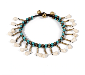 Blue Stone Layered Anklet Anklets