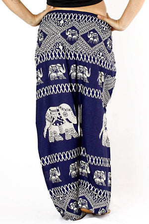 Blue Tribal Elephant Harem Pants Harem Pants