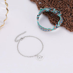 Braided Beach Anklet With Boho Charm Anklets