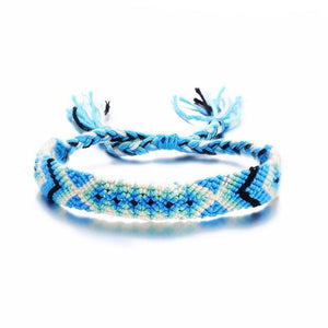 Braided Vegan Friendship Bracelets in 9 Colors Blue Pulseras de amuleto