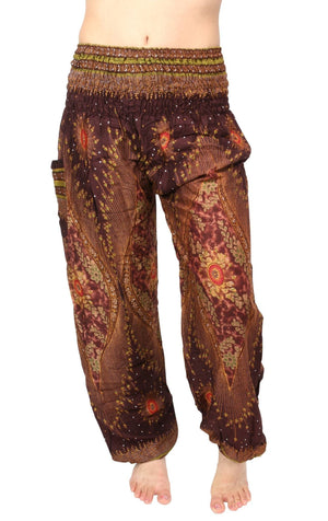 Brandy Brown Peacock Harem Pants Harem Pants