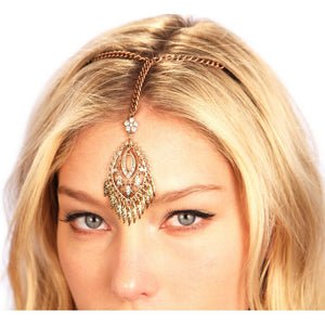 Bronzed Fringe Tikka Women - Accessories - Hair Accessories