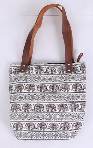 Brown Elephant Tote Bag Bags