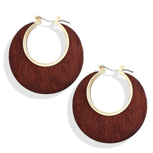 Brown & Gold Geometric Splicing Drop Earrings Brown Pendientes de gotas