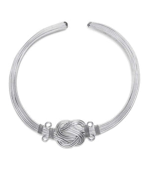 Buddha Knot Necklace - Silver  (GC) Necklace