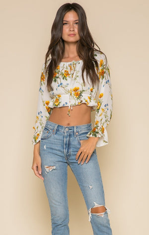 Buttercup Fields Crop Top Women - Apparel - Shirts - Blouses