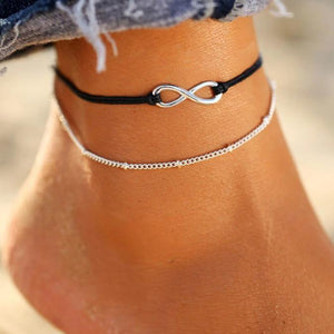 Charm Anklets for Beach with Sun, Infinity Symbol, Dolphin Charm Anklets