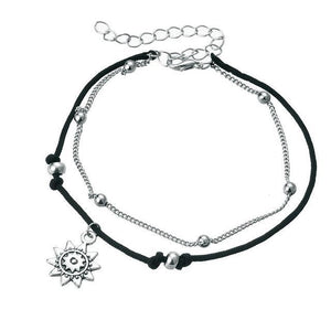 Charm Anklets for Beach with Sun, Infinity Symbol, Dolphin Charm BJCS724 Anklets