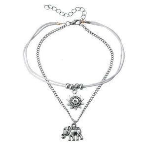 Charm Anklets for Beach with Sun, Infinity Symbol, Dolphin Charm BJCS725 Anklets