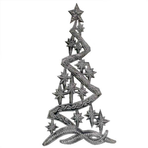 "Christmas Tree Metal Wall Art (14"" x 7"")  (GC) Metal Wall Art"