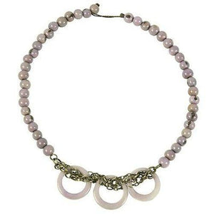 Circle Chain Choker in Lavender (GC) Faire Collection