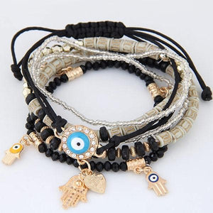 Colorful Beads Charm Bracelets Black Charm Bracelets