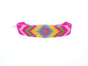 Colorful Beads Eye Bracelet 2 / Pink Wrap Bracelets